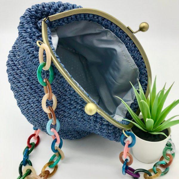 Bolso vintage de crochet hecho a mano modelo Estela diseñado por kaykai