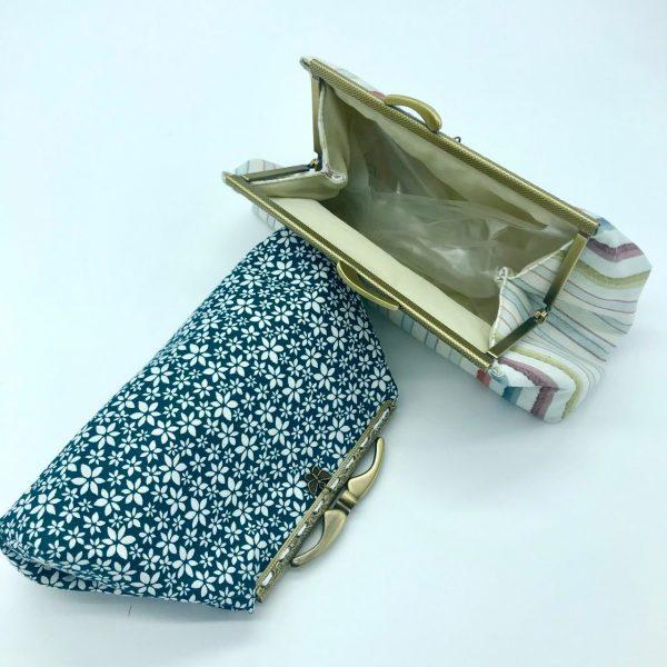 Neceser monedero de tela con cierre de metal hecho a mano por kaykai
