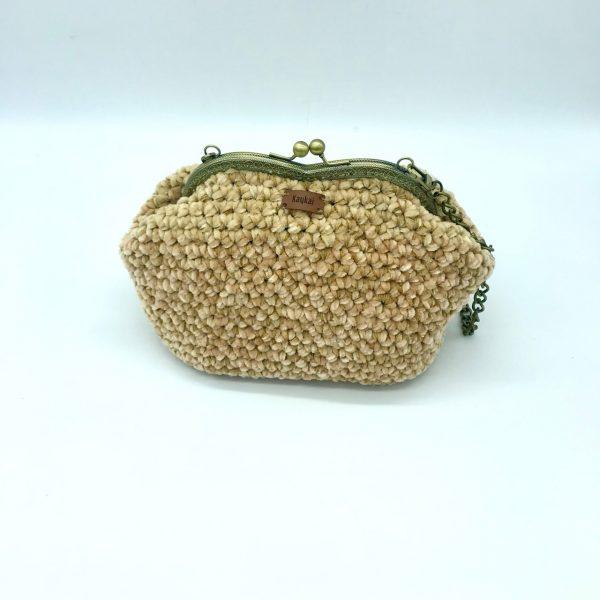 Bolso beige de crochet modelo Vera. kaykai